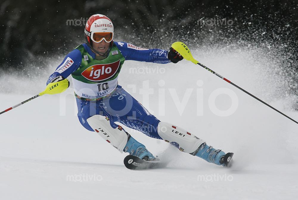 Ski Alpin Weltcup Slalom in Bad Kleinkirchheim , AUT 09.12.07  Silvan Zurbriggen (SUI)