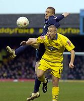Photo: Matt Bright.<br /> Southend United v Dagenham and Redbridge. FA Cup Third Round. 05/01/2008. <br /> Scott Griffiths of Dagenham & Nicky Bailey of Southend