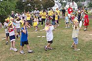 Middletown, New York - Children from Camp Sunshine perform in a talent show for their parents at the Middletown YMCA on July 19, 2012.