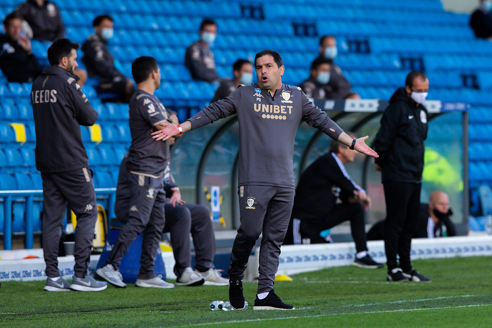 Leeds United assistant manager Pablo Quiroga appeals to the assistant referee <br /> <br /> Photographer Alex Dodd/CameraSport<br /> <br /> The EFL Sky Bet Championship - Leeds United v Fulham - Wednesday 24th June 2020 - Elland Road - Leeds<br /> <br /> World Copyright © 2020 CameraSport. All rights reserved. 43 Linden Ave. Countesthorpe. Leicester. England. LE8 5PG - Tel: +44 (0) 116 277 4147 - admin@camerasport.com - www.camerasport.com<br /> <br /> Photographer Alex Dodd/CameraSport<br /> <br /> The Premier League - Newcastle United v Aston Villa - Wednesday 24th June 2020 - St James' Park - Newcastle <br /> <br /> World Copyright © 2020 CameraSport. All rights reserved. 43 Linden Ave. Countesthorpe. Leicester. England. LE8 5PG - Tel: +44 (0) 116 277 4147 - admin@camerasport.com - www.camerasport.com