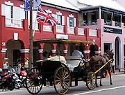 Carriage ride in Hamilton, Bermuda
