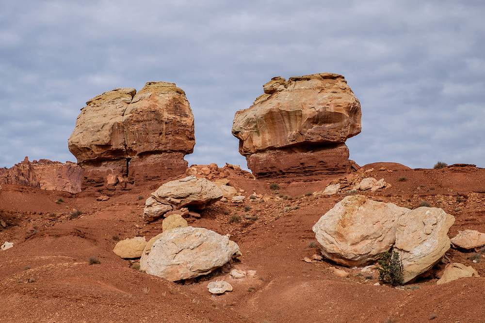 Twin Rocks are near the west entrance of the park.