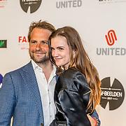 NLD/Amsterdam/20170328 - Uitreiking Tv Beelden 2017, Marly van der Velden en partner Mike Meijer