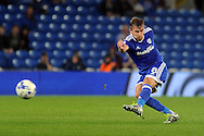 Cardiff City's Joe Ralls shoots at goal. EFL Skybet championship match, Cardiff city v Blackburn Rovers at the Cardiff city stadium in Cardiff, South Wales on Wednesday 17th August 2016.<br /> pic by Carl Robertson, Andrew Orchard sports photography.