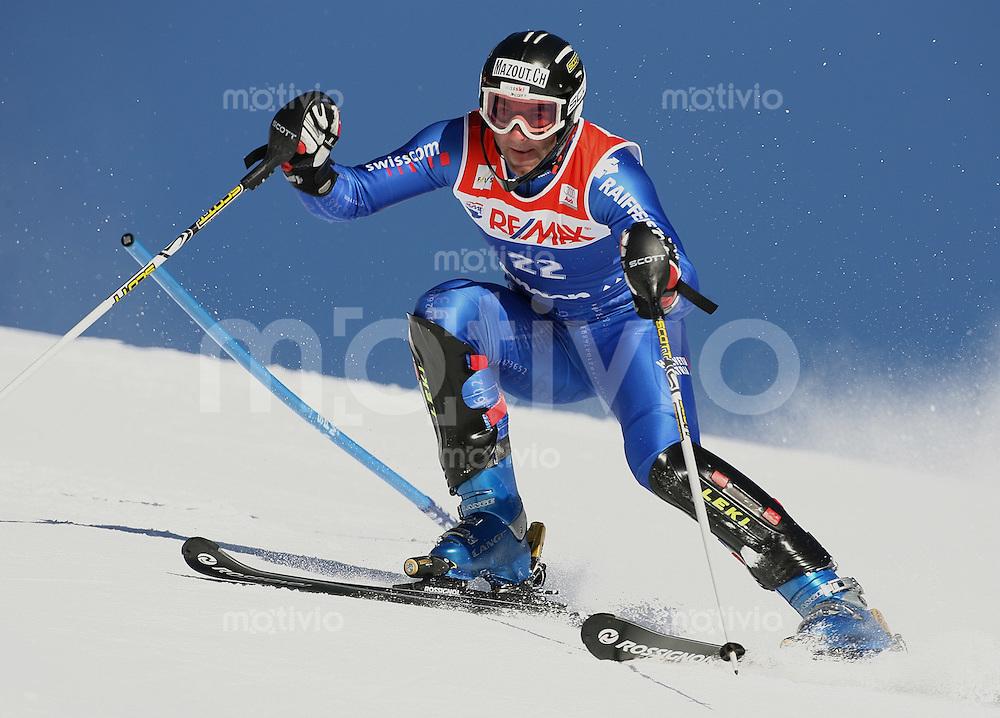 Ski Alpin; Saison 2005/2006 Super Kombination Slalom Wengen Herren 76. Lauberhornrennen Didier Defago (SUI)