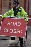 In the aftermath of the London Bridge and Borough Market terrorist attack the previous night, police are positioned at closed road junctions a half a mile from the crime scene where 7 people were killed and many others injured (Sunday's total). On Sunday 4th June 2017, in the south London borough of Southwark, England. (Photo by Richard Baker / In Pictures via Getty Images)