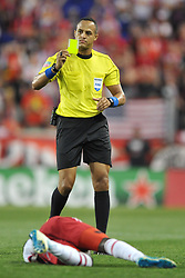 May 27, 2017 - Harrison, New Jersey, U.S - Referee ISMAIL ELFATH is seen at Red Bull Arena in Harrison New Jersey New York defeats New England 2 to 1 (Credit Image: © Brooks Von Arx via ZUMA Wire)
