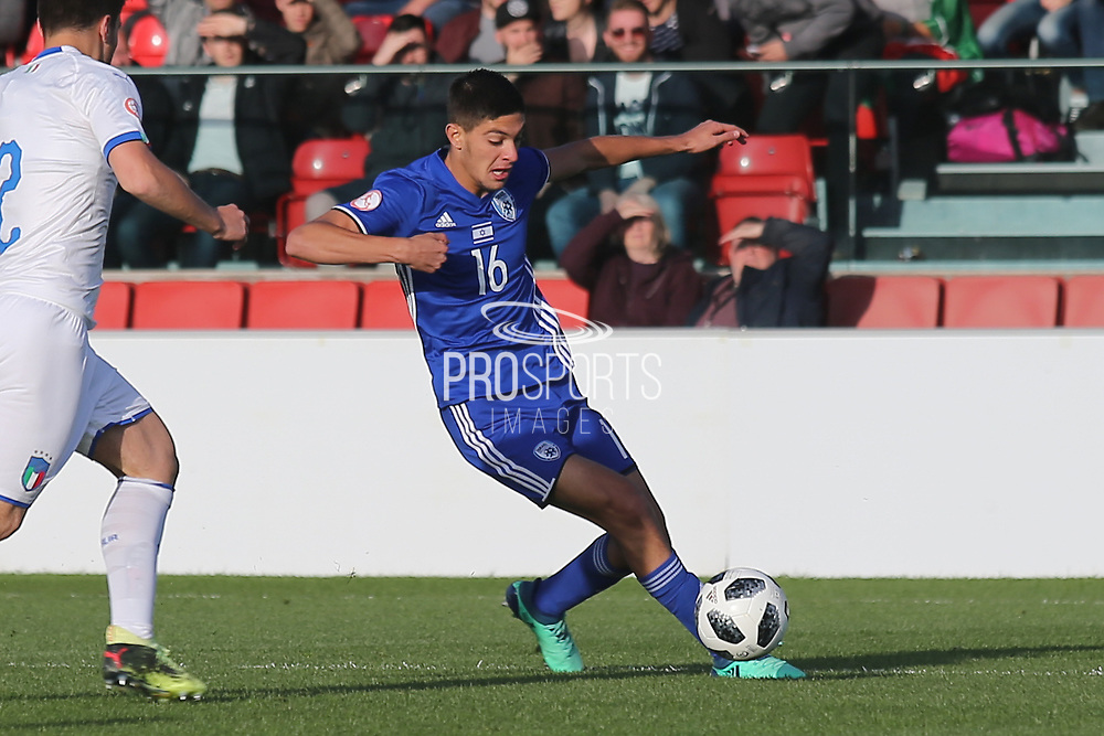 Amit Meir of Israel (16) during the UEFA European Under 17 Championship 2018 match between Israel and Italy at St George's Park National Football Centre, Burton-Upon-Trent, United Kingdom on 10 May 2018. Picture by Mick Haynes.