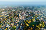 Nederland, Overijssel, Steenwijk, 28-10-2014; overzicht centrum van de stad met Grote of Sint-Clemenskerk, Rams Woerthe en het stadspark.<br /> Provincial town Steenwijk.<br /> luchtfoto (toeslag op standaard tarieven);<br /> aerial photo (additional fee required);<br /> copyright© foto/photo Siebe Swart