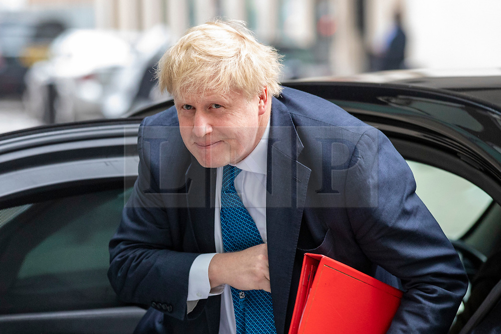 © Licensed to London News Pictures. Foreign Secretary BORIS JOHNSON arrives at BBC Broadcasting House to appear on the Andrew Marr Show. 15/04/2018. London, UK. Photo credit: Rob Pinney/LNP
