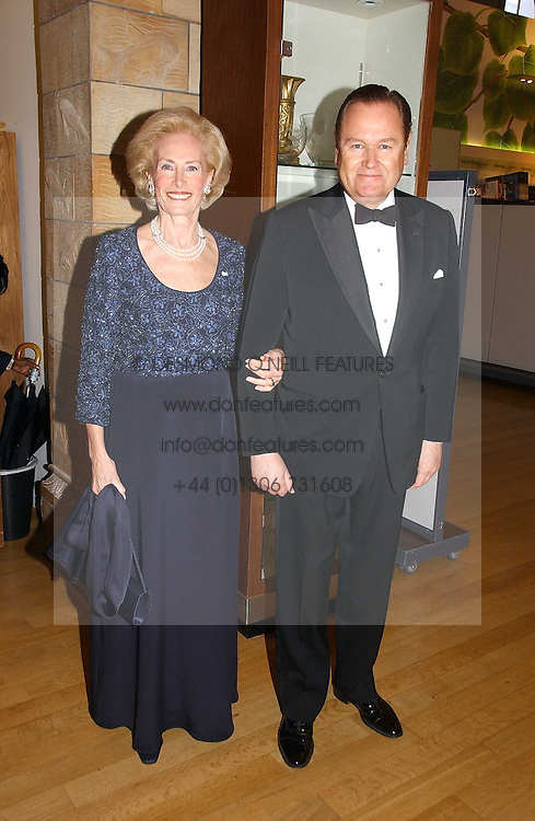 MR JOHAN BECKMAN and his wife ELIANE DE GUNZBURG BECKMAN Lady in Waiting to The Queen of Sweden at a gala dinner in the presence of HM Quenn Silvia of Sweden and HM Queen Noor of Jordan in aid of the charity Mentor held at the Natural History Museum, Cromwell Road, London on 23rd May 2006.<br /><br />NON EXCLUSIVE - WORLD RIGHTS