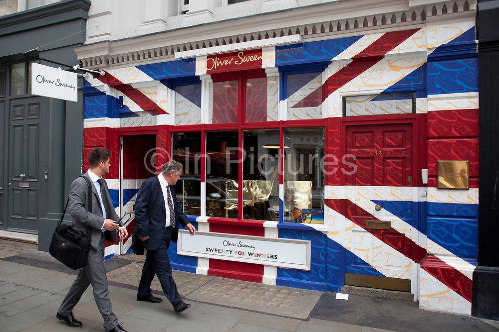 Patriotic union jack flag design for a clothes shop in Covent Garden. There has been a big surge in patriotism during the London 2012 Olympics