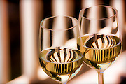 Photographic art design of wine glasses