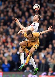 19 February 2017 - The FA Cup - (5th Round) - Fulham v Tottenham Hotspur - Scott Malone of Fulham in action with Harry Winks of Tottenham Hotspur - Photo: Marc Atkins / Offside.