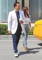 Nicolas Bijan and Roxy Sowlaty are seen in Los Angeles, CA.