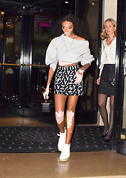 Winnie Harlow is seen stepping out in Paris at the Four Seasons hotel.<br /><br />25 September 2017.<br /><br />Please byline: Vantagenews.com
