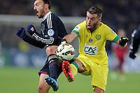 Steed MALBRANQUE / Lucas DEAUX - 20.01.2015 - Nantes / Lyon  - Coupe de France 2014/2015<br />Photo : Vincent Michel / Icon Sport