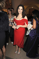 NIGELLA LAWSON at Chaos Point - a fashion show from Viienne Westwood's Gold Label Collection in aid of the NSPCC at The Banqueting House, London SW1 on 18th November 2008.