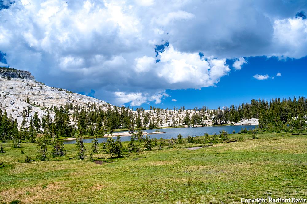 The John Muir Trail, California. Cathedral Lake.