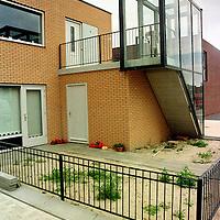 Nederland. Hoofddorp. 2 augustus 2003..Starterswoningen in Floriande Hoofddorp.