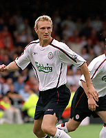 Sami Hyypia (Liverpool)  Crewe v Liverpool. Pre season friendly match. 19/7/2003. Credit : Colorsport/Andrew Cowie.