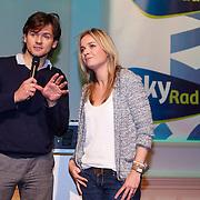 NLD/Hilversum/20121207 - Skyradio Christmas Tree, Daphne Lammers en Ib Haarsma