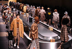 milan men fashion week, FENDI catwalk. 15 Jan 2018 Pictured: milan men fashion week, FENDI catwalk. Photo credit: Fotogramma / MEGA TheMegaAgency.com +1 888 505 6342