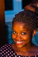 Young woman working at Makaron Restaurant, Majeka House Hotel, Stellenbosch, Cape Windlands, South Africa.