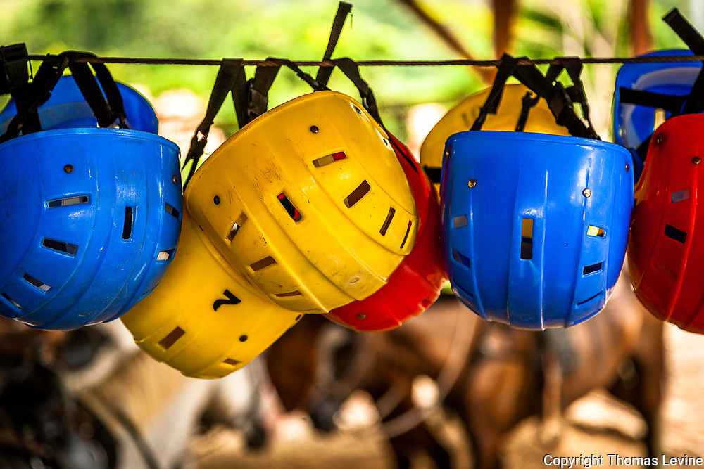 Safety hats or helmets for Zip Line.