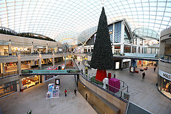 © Licensed to London News Pictures. 24/11/2017. Leeds, UK. Picture shows the empty Trinity shopping centre in Leeds this morning on Black Friday. Photo credit: Andrew McCaren/LNP