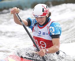 July 1, 2018 - Krakow, Poland - 2018 ICF Canoe Slalom World Cup 2 in Krakow. Day 2. On the picture: KLARA OLAZABAL (Credit Image: © Damian Klamka via ZUMA Wire)