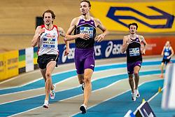 Djoao Lobles, Jurgen Wielart in action on the 800 meter during AA Drink Dutch Athletics Championship Indoor on 20 February 2021 in Apeldoorn.