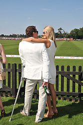 BRENDAN COLE and his wife ZOE at the Audi International Polo Day held at Guards Polo Club, Smith's Lawn, Windsor on 22nd July 2012.