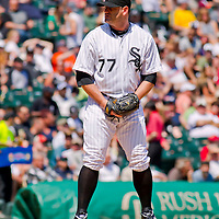 Chicago, IL - June 05, 2011:  Chicago White Sox Pitcher, Will Ohman (77), pitches against the visiting Detroit Tigers at U.S. Cellular Field on June 5, 2011 in Chicago, IL.