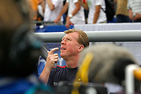 Photo: Glyn Thomas.<br />England v Portugal. Quarter Finals, FIFA World Cup 2006. 01/07/2006.<br /> England's Steve McClaren, assistant manager, in the media spotlight.