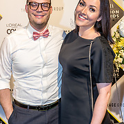 NLD/Amsterdam/20170829 - Grazia Fashion Awards 2017, Mascha Feoktistova en partner Gregor