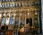 Interior of Saint Lazaros or Saint Lazarus church, Larnaca, Cyprus in 1998