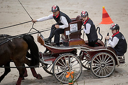 Ulrich Werner, SUI, Cardiuweel de Premo, Inciato Galans, Ideal des Rottes, Mikado N<br /> FEI World Cup Driving<br /> CHI de Genève 2016<br /> © Hippo Foto - Dirk Caremans<br /> 11/12/2016