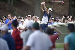 June 24, 2018 - Cromwell, CT, USA - Bubba Watson drove the ball to within 71 yards on the cup on the 18th hole then hit his wedge to within 2 feet for birdie during the final round of the Travelers Championship at TPC River Highlands in Cromwell, Conn., on Sunday, June 24, 2018. (Credit Image: © John Woike/TNS via ZUMA Wire)