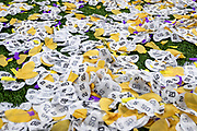 January 14, 2020:  2020 National Championship confetti on the field after College Football Playoff National Championship game action between the Clemson Tigers and the LSU Tigers at Mercedes-Benz Superdome in New Orleans, Louisiana.  LSU defeated Clemson 42-25.