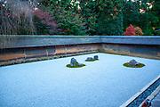 Japan, Kyoto, Ryoan-Ji Zen Buddhist temple, View of the dry rock garden of Ryoan-Ji