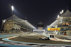 13.11.2011, Yas-Marina-Circuit, Abu Dhabi, UAE, Grosser Preis von Abu Dhabi, im Bild DHL Branding - Michael Schumacher (GER), Mercedes GP  // during the Formula One Championships 2011 Large price of Abu Dhabi held at the Yas-Marina-Circuit, 2011/11/13. EXPA Pictures © 2011, PhotoCredit: EXPA/ nph/ Dieter Mathis..***** ATTENTION - OUT OF GER, CRO *****