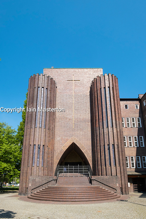 Exterior view of Kirche Am Hohenzollernplatz church in Berlin, Germany