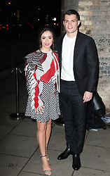 Footballer Granit Xhaka and wife Leonita Xhaka arrive at the Late Fabulous Fund Fair at the Roundhouse in London during the Autumn/Winter 2019 London Fashion Week. PRESS ASSOCIATION. Picture date: Monday February 18, 2019. Photo credit should read: Isabel Infantes/PA Wire