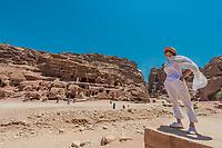 in Nabatean Petra Jordan middle east