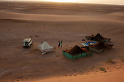 Nomadic Moroccan People and their tents
