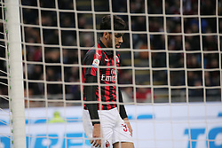March 2, 2019 - Milan, Milan, Italy - Lucas Paqueta' #39 of AC Milan reacts to a missed chance during the serie A match between AC Milan and US Sassuolo at Stadio Giuseppe Meazza on March 02, 2019 in Milan, Italy. (Credit Image: © Giuseppe Cottini/NurPhoto via ZUMA Press)