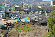 Outlet Mall and Construction Near the USA Mexico Border in San Diego