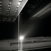 """Lights from a building across from Penn Station in New York City. from the series """"Down with the Ship"""""""