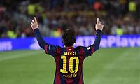 Fotball<br /> Tyskland<br /> 06.05.2015<br /> Foto: imago/Digitalsport<br /> NORWAY ONLY<br /> <br /> Jubel: Lionel Messi (Barca) <br /> <br /> Fussball, Champions League, Halbfinale Hinspiel, FC Barcelona - FC Bayern München